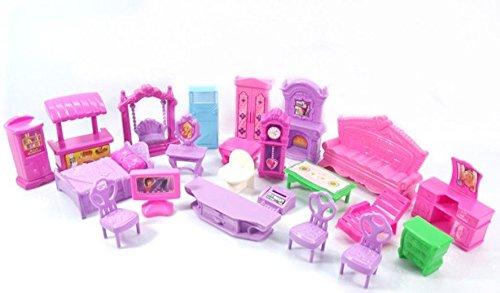 NUMBERNINE,Plastic Furniture Dolls House Family Christmas Xmas