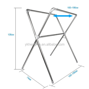 Telescopic X-Type Stainless Steel Clothes Hanger cloth drying rack