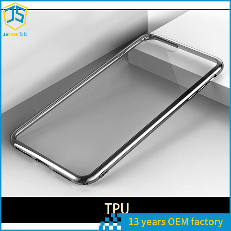 For Samsung Galaxy S8 Electroplating Protective Case and Crystal Clear Back Cover Cell Phone Case