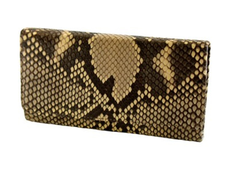 Jranter Custom Genuine Python Snakeskin Man Long Leather Wallet