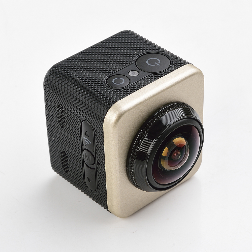 Panoramic recording xdv 360 action camera cube 360s, hd 1080p helmet sport action camera