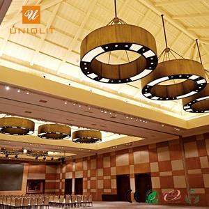Resorts Project Black Classic Round Ring Iron Chandelier Pendant Light