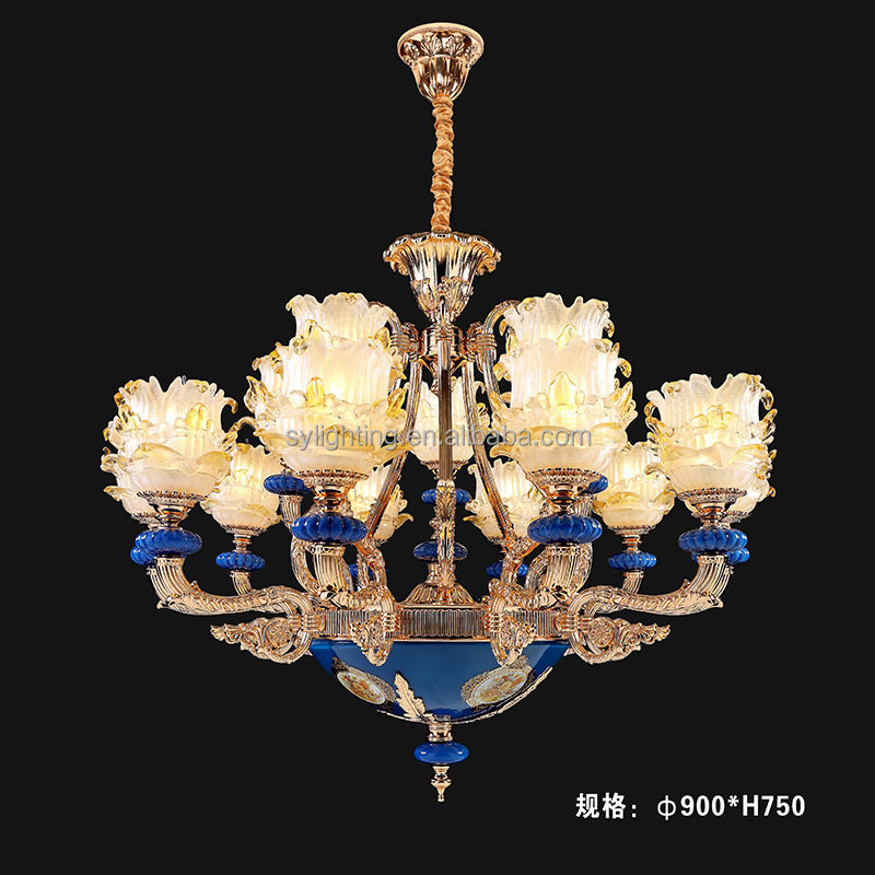 flower shape glass lampshade luxury murano glass zinc alloy chandeliers & pendant lights istanbul lamp with CE&UL