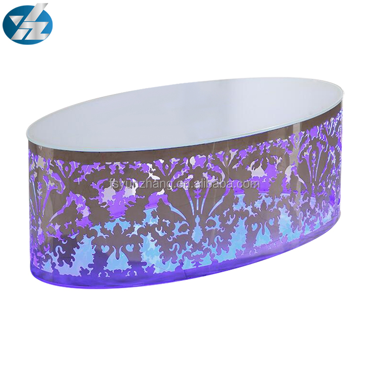 Stainless Steel LED Wedding Table for Events Wedding <strong>Furnitures</strong>