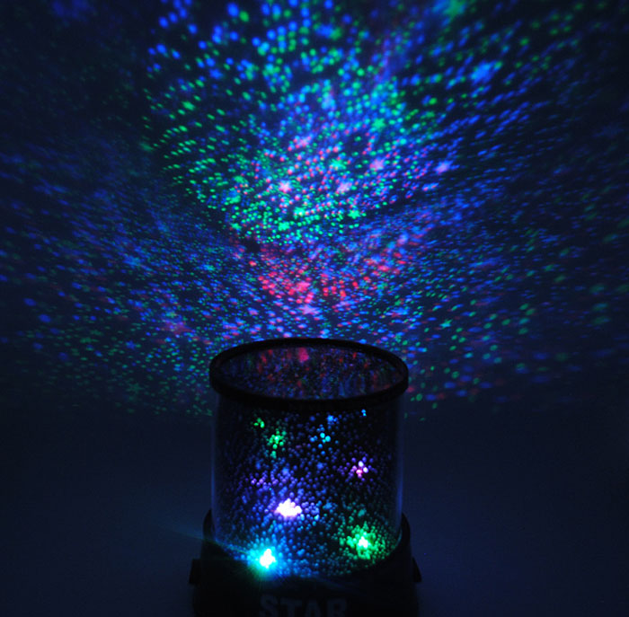 Flashing Sky Star Master Night Light with Rotation and Music Function