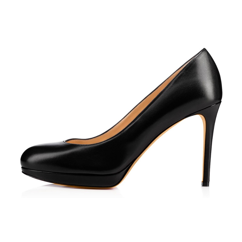 Platform Smooth Leather High Pumps Women Heels Simple Tq6qfzwv
