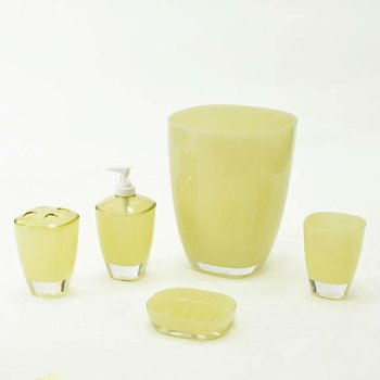 Eye Catching Plastic Bright Yellow Colored Bathroom Accessories ...