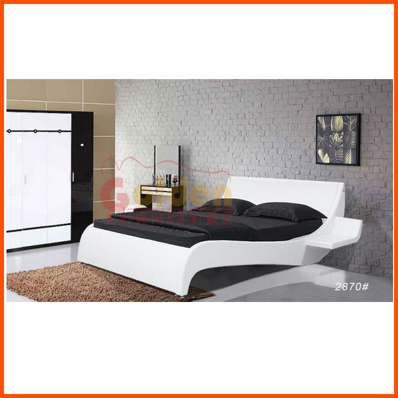 Stylish Home Furniture Philippines Hot Selling White Leather Bed (2870)    Buy White Modern Leather Beds,White Italian Leather Bed,White Italian  Leather Bed ...