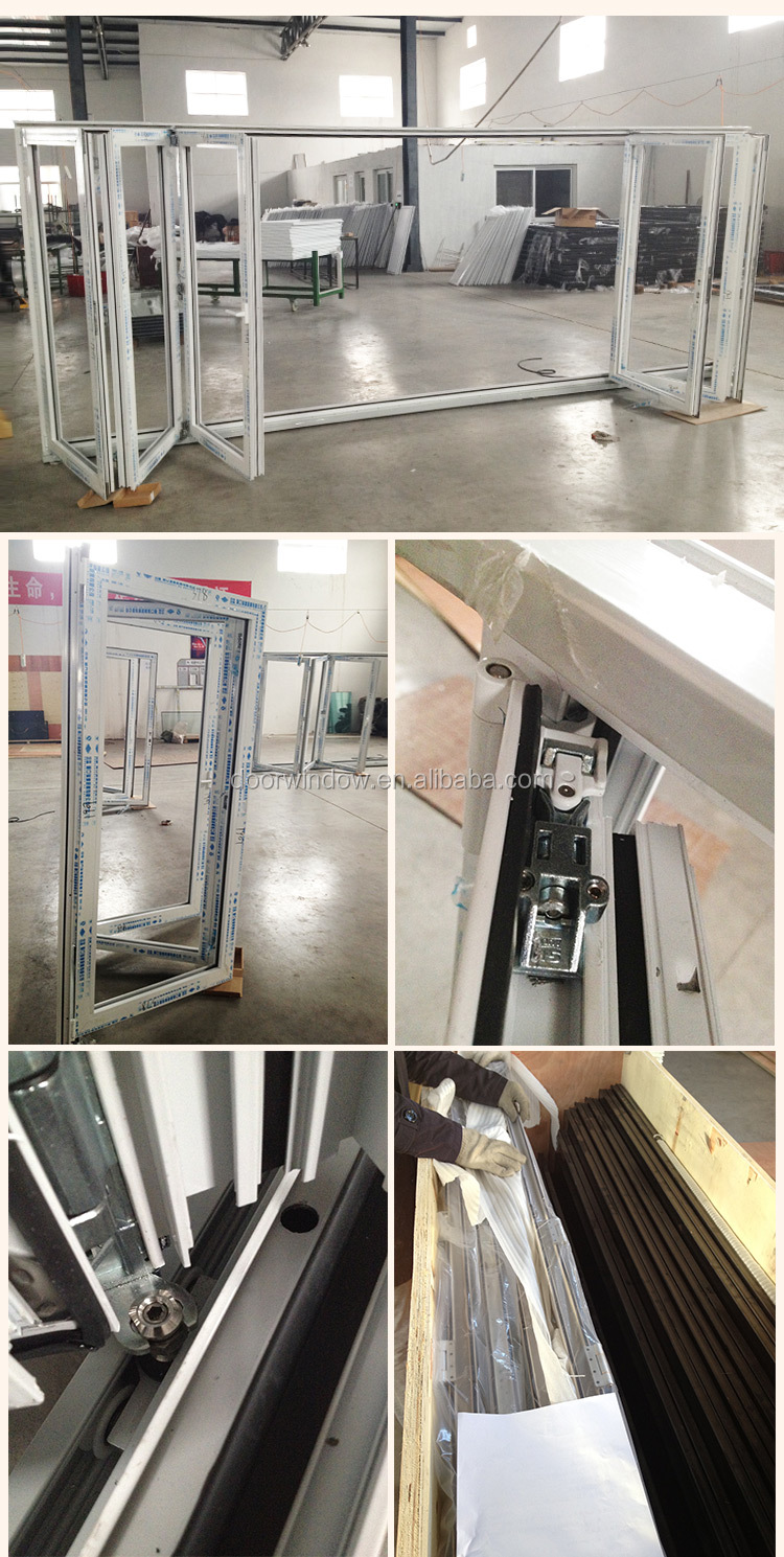 Well Designed Shanghai factory Heat Insulation Folding window and Door Aluminium bi-fold windows doors Accordion