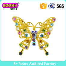 yellow butterfly brooch 2017 china cheap brooches in bulk