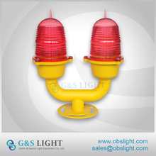 LED RED Low Intensity Double Aircraft Warning Lights / Aviation Obstruction Light For High Buildings