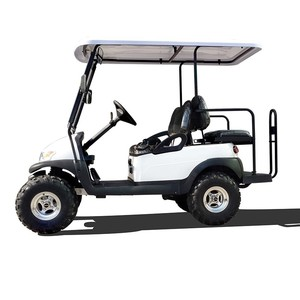 White 4-Seater Electric Hunting/Golf Carts With Coil Spring Hydraulic Shock Absorber