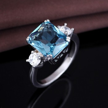 blue aquamarine engagement art rings deco yellow ring gold light carat