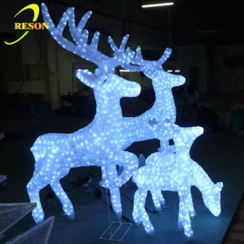 outdoor led garden lights artificial super bright white family christmas deer yard decorations