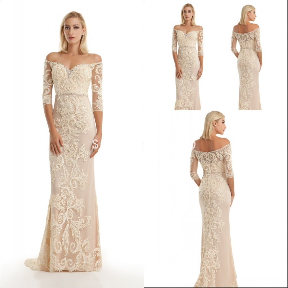 2016 Lace Mermaid Mother Of The Bride Dresses Groom: Luxury Hand Beaded Lace Applique Mermaid Mother Of The