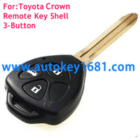 3 Buttons Fob remote car Key Shell Case For TOYOTA Crown corolla camry with uncut blade