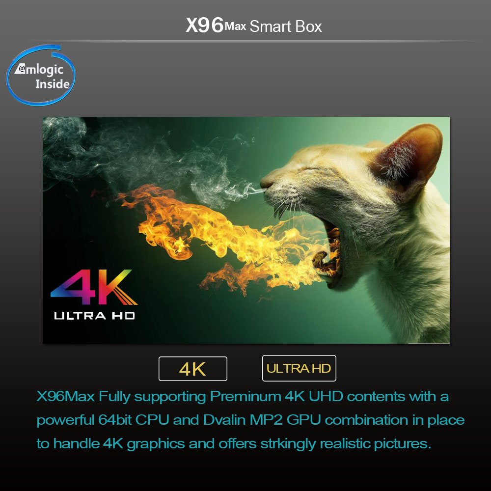TV Box X96 MAX Smart Set Top Box Android 8.1 2G16G/4G32G/4G64G Amlogic S905X2 Quad Core WIFI Smart TV Box.