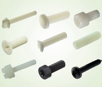 Plastic fasteners supply plastic nylon screw with PA66 material