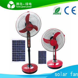 Popular solar fans price good 12v dc table fan with led light