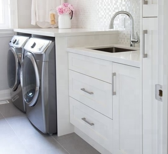 Welbom White Wooden Laundry Room