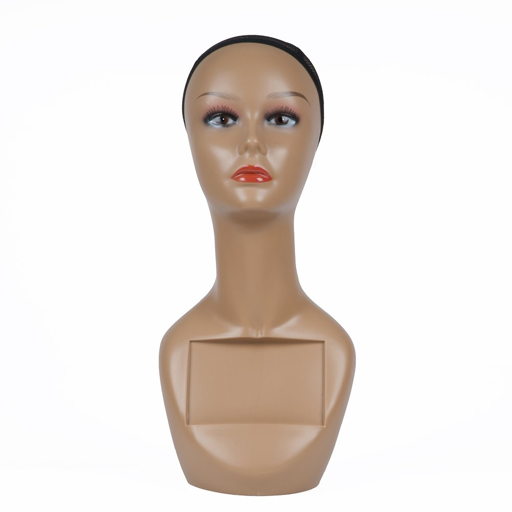 standing pose with high heel feet feature with one arm on the waist. ROXYDISPLAY/™ Egg Head Female Mannequin Plus Size MD-NANCYW3S