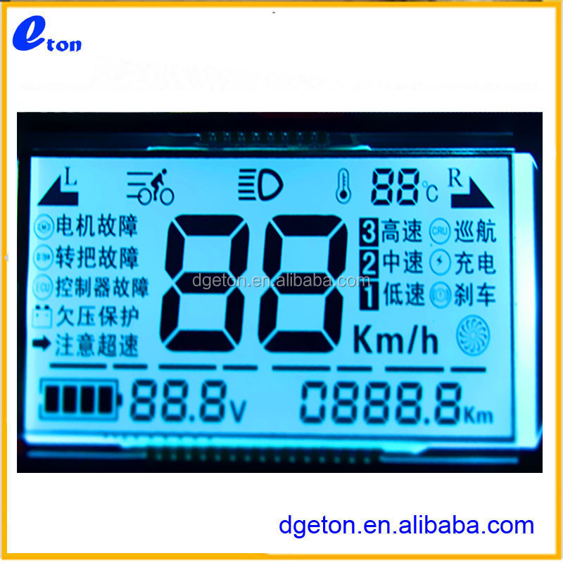 OEM/ODM segment lcd for lcd display speedometer