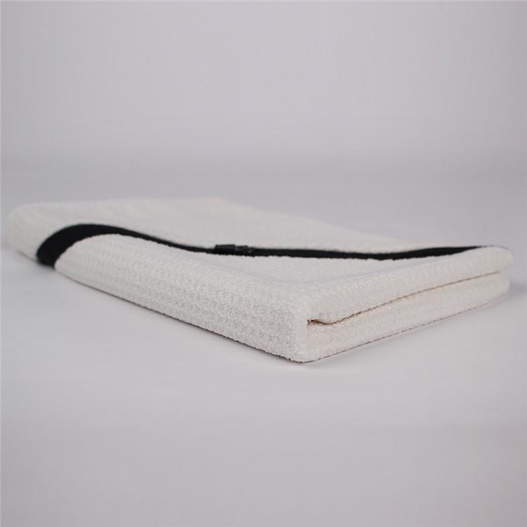 Groothandel Custom rits pocket microfiber reizen super absorberende sport handdoek hooded baby handdoek