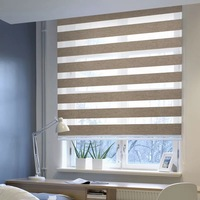 Popular modern roller blind 100% polyester fabric zebra blind for home decor