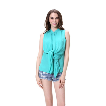 edce3a803e10f7 High Quality Women Ladies Casual Sleeveless Chiffon Blouse And Tops