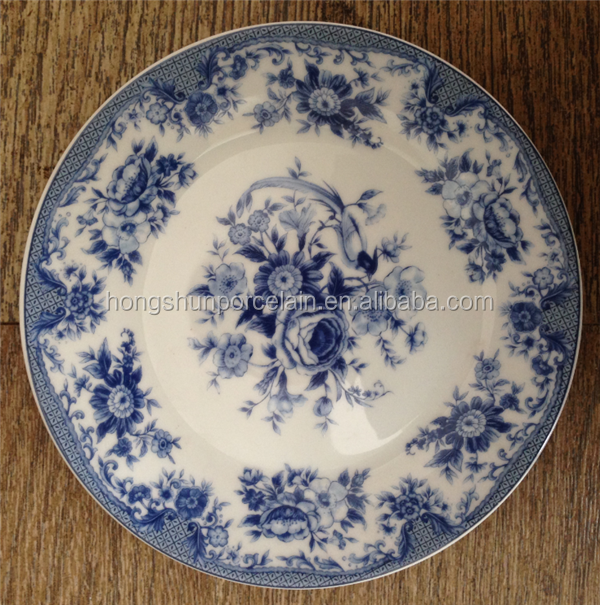 Designer Home Decor plate white and Blue Porcelain