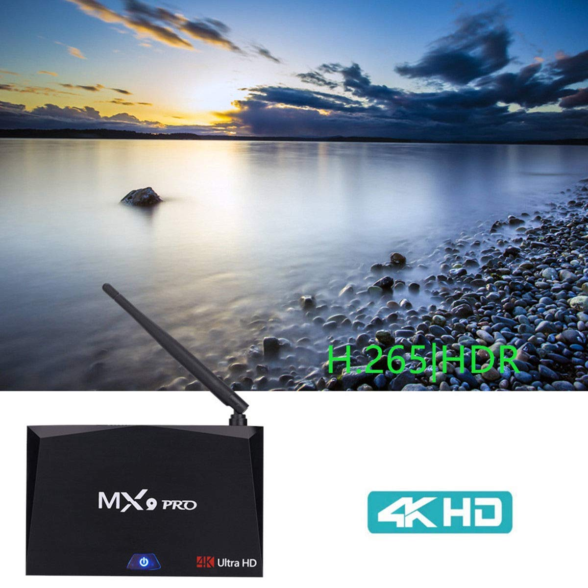Mocei MX9 Pro 16G 32GB ROM Smart Android 7.1 TV Box RK3328 Quad Core WiFi BT4.1 NM AU 2G+16G