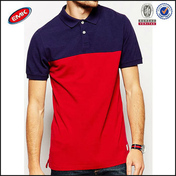 Casual Fashion Color Combination Polo T Shirt For Men ...