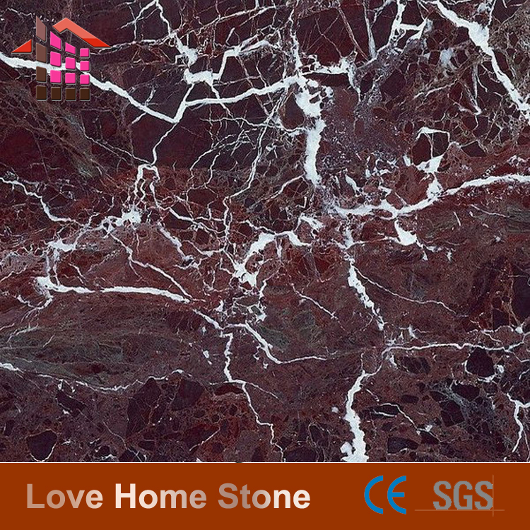 Fasinating Rosso Lepanto Purple Marble Composite Floor Tiles