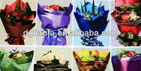 Colorful gift packaging sleeves for cut flowers,wedding decoration
