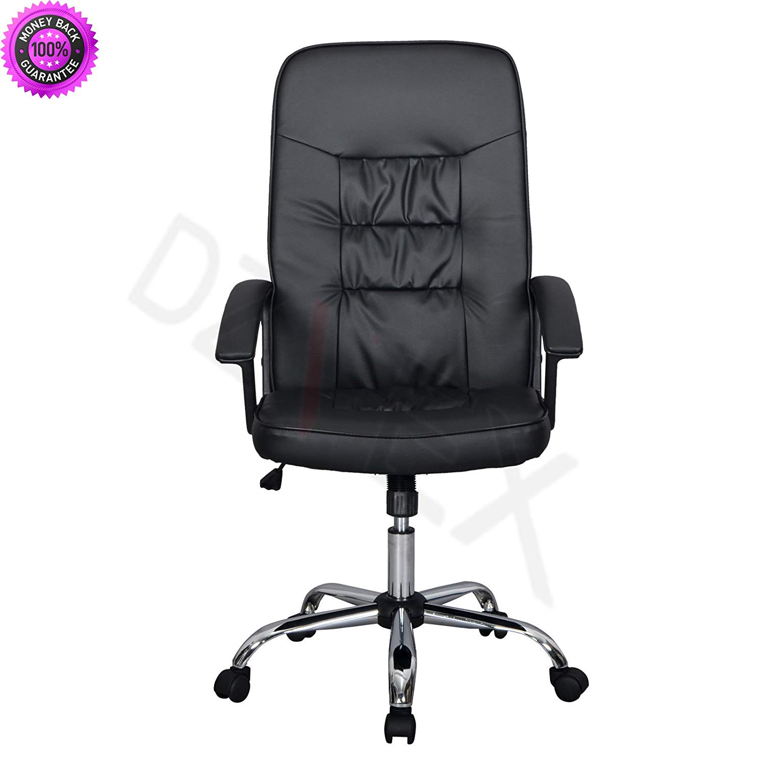 DzVeX_Black High Back Executive Office PU Leather Ergonomic Chair Computer Desk T63 And Add sensible style to your home office or at-work space with this high back leather office chair. Its modern