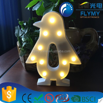 led penguin light marquee party supplies