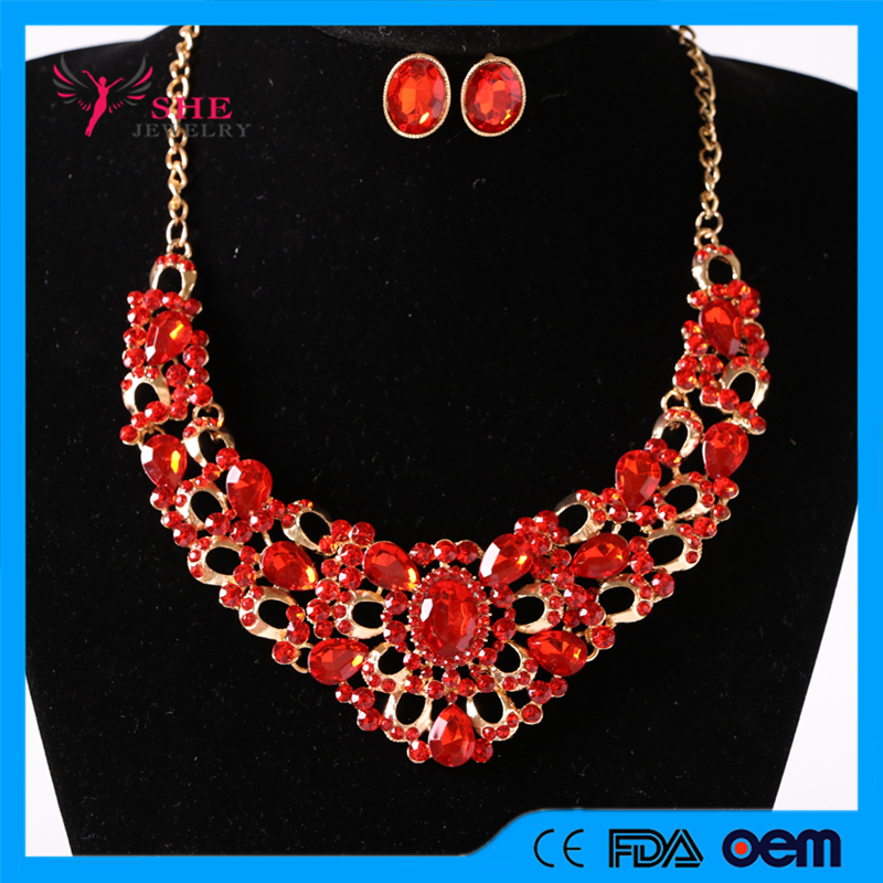 Mecresh Gorgeous Crystal Bridal Women Jewelry Sets Wedding Jewelry Accessories Necklace Earrings for Women Party