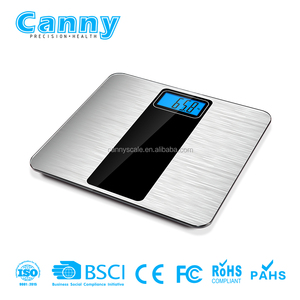 Digital body weight scale with new design of metal brush printing platform