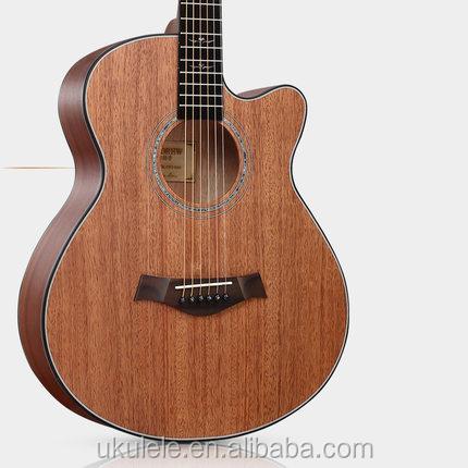 Special Design 40 inch solid top mahogany acoustic guitar фото
