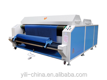 Hot sale in China woven and knitted fabric shrinking and heat setting machine
