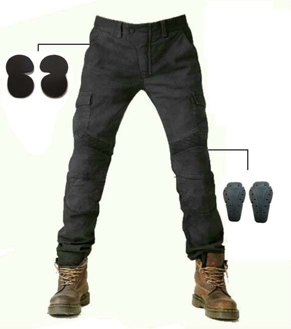 b8d610b3caf Get Quotations · Alpha Rider MOTORCYCLE JEANS WITH PAD DENIM BIKER BLACK  MOTO PANTS COMBAT PANTS Stylish Riding Jeans