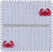 Embroidered Seersucker Fabric Buy Embroidered Seersucker Fabric