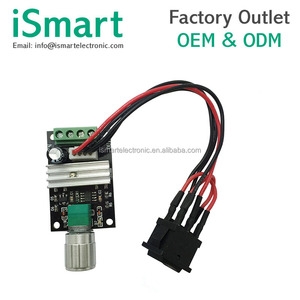 PWM DC motor speed controller 6V12V24V 3A speed switch reversing switch