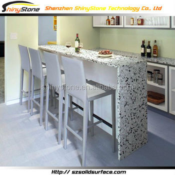 Etonnant Leggy Long Bench Top Design Solid Surface/man Made Stone Elegant Portable  Bar Counter