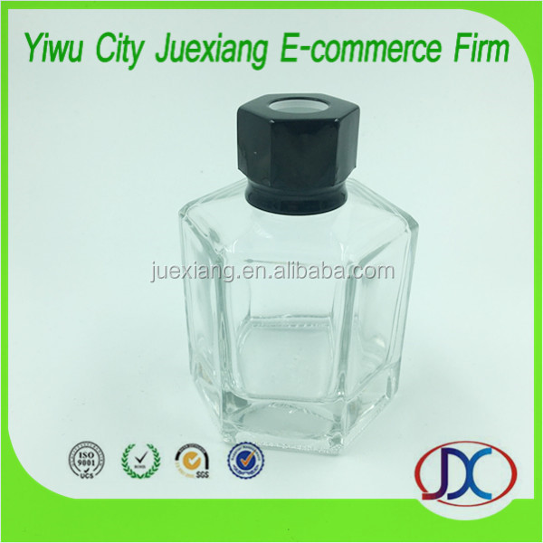Flower shape empty reed diffuser glass bottle with Aluminum Screw Cap