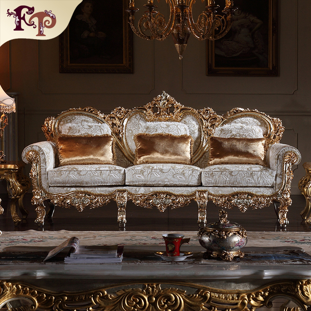 2016 New Comfortable Living Room Sofa Furniture Handcraft Antique Hand Carved  Sofa Set