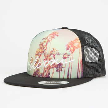 Custom Hawaii Sublimation Printed Snapback Trucker Hat Custom Printing  Trucker Mesh Hat 040cb01ec28