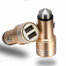 Werbegeschenke Usb Car Charger, 12 V 24 V Nothammer Dual USB Car Charger, aluminium Dual Usb Car Charger für Handy