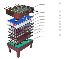 KBL-991A 9 in 1 multi Game table(Soccer, Tennis, Hockey, Shuffle, Tictactoe, Bowling, Backgammon, Chess, Billiard table)