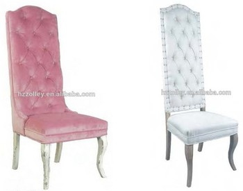French Vintage Living Room Furniture High Back Chairs White Throne ...
